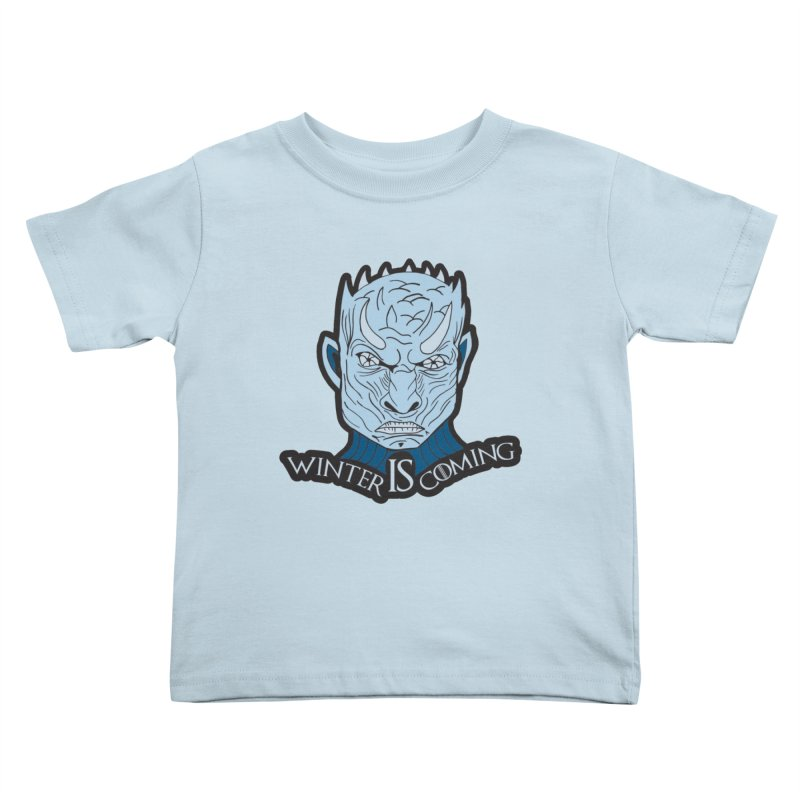Winter IS Coming Kids Toddler T-Shirt by Moon Joggers's Artist Shop