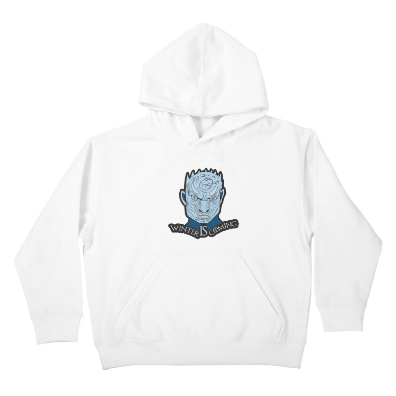 Winter IS Coming Kids Pullover Hoody by Moon Joggers's Artist Shop