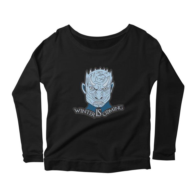 Winter IS Coming Women's Scoop Neck Longsleeve T-Shirt by moonjoggers's Artist Shop