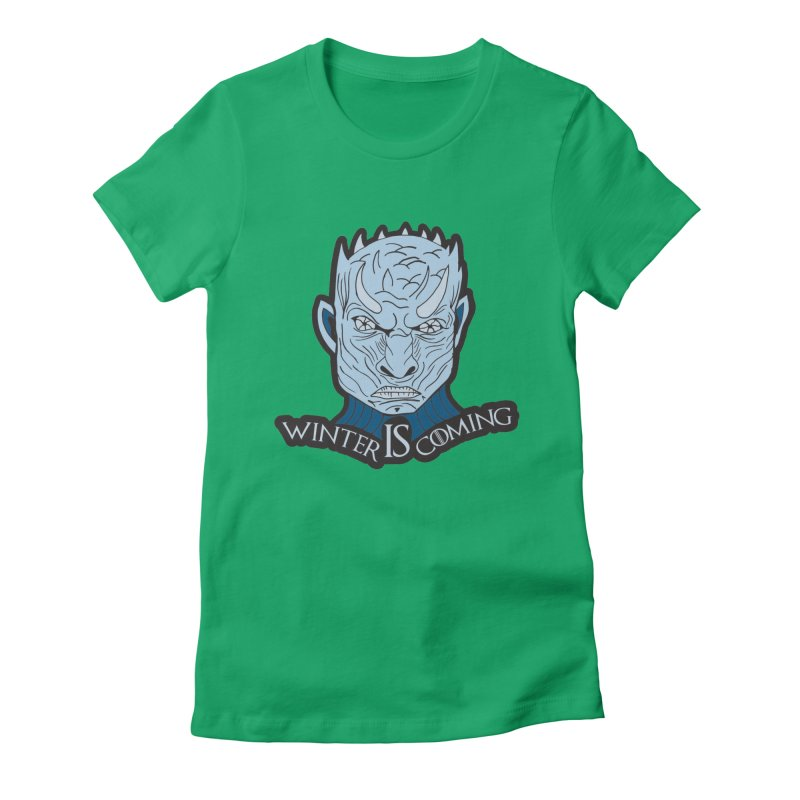 Winter IS Coming Women's Fitted T-Shirt by moonjoggers's Artist Shop