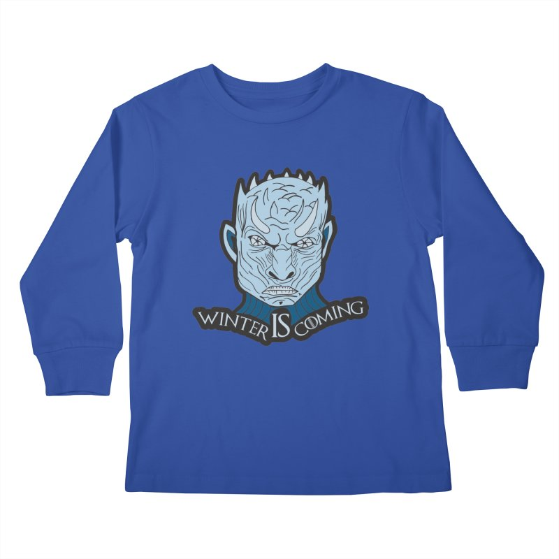Winter IS Coming Kids Longsleeve T-Shirt by Moon Joggers's Artist Shop