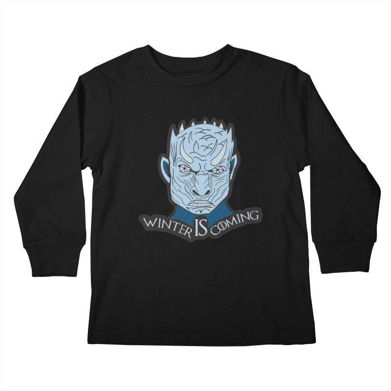 Winter IS Coming Kids Longsleeve T-Shirt by Moon Joggers's Artist Shop