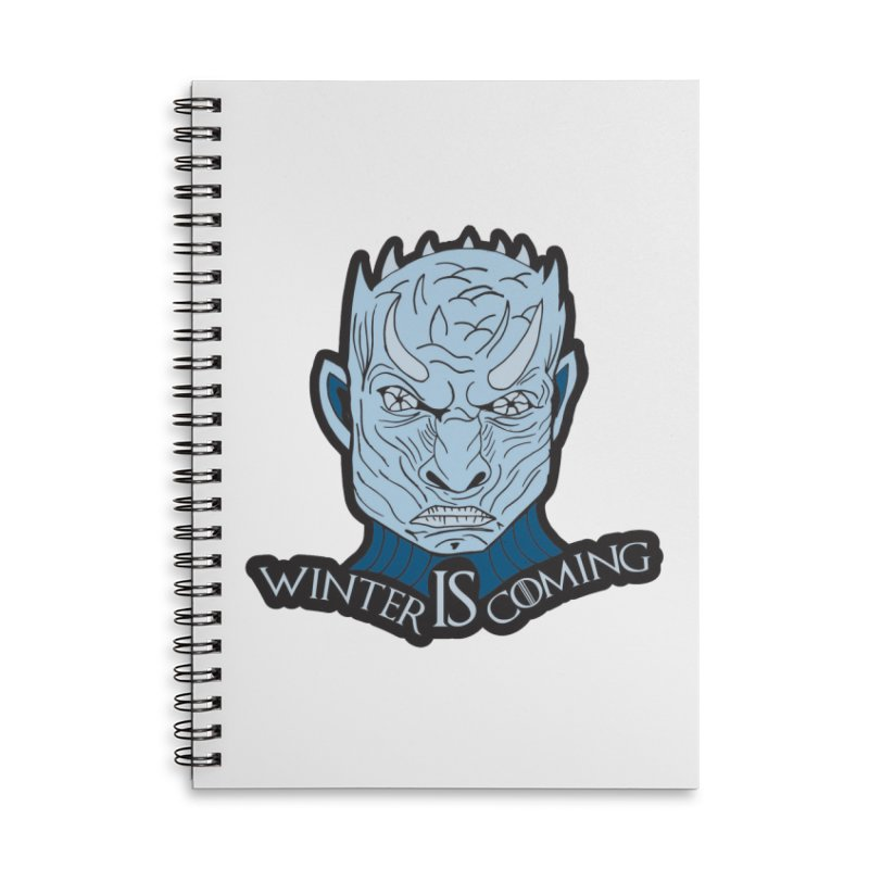 Winter IS Coming Accessories Lined Spiral Notebook by Moon Joggers's Artist Shop
