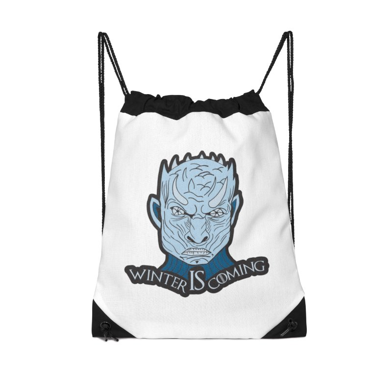 Winter IS Coming Accessories Drawstring Bag Bag by Moon Joggers's Artist Shop