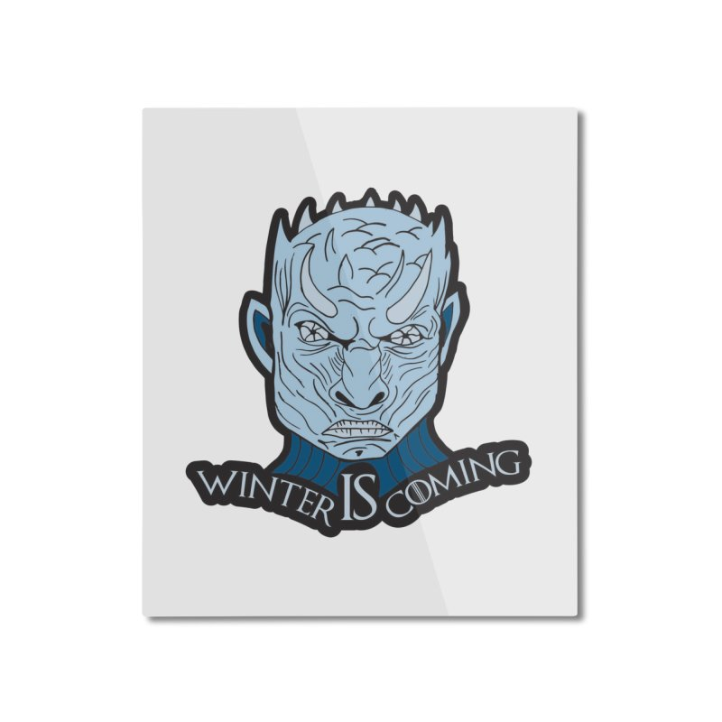 Winter IS Coming Home Mounted Aluminum Print by moonjoggers's Artist Shop