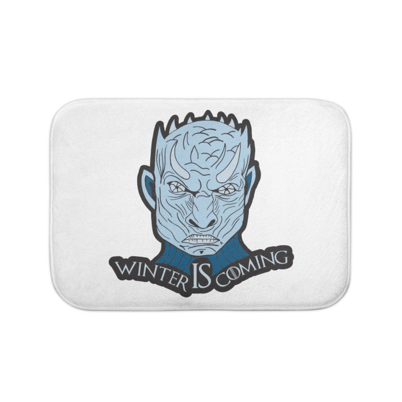Winter IS Coming Home Bath Mat by Moon Joggers's Artist Shop
