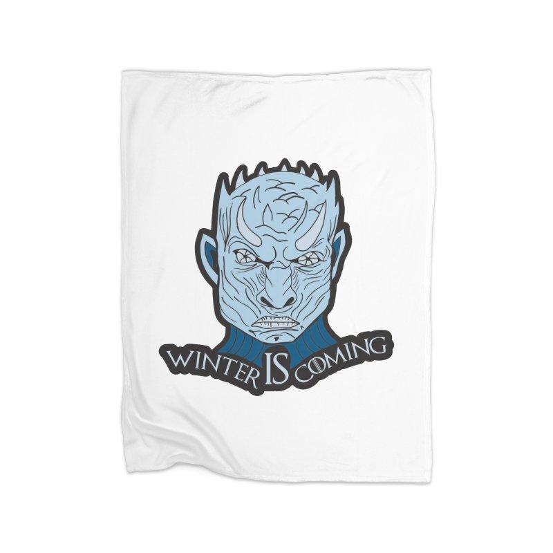 Winter IS Coming Home Fleece Blanket Blanket by Moon Joggers's Artist Shop