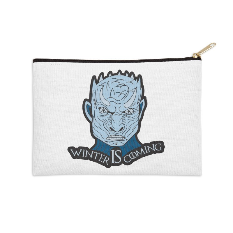 Winter IS Coming Accessories Zip Pouch by Moon Joggers's Artist Shop
