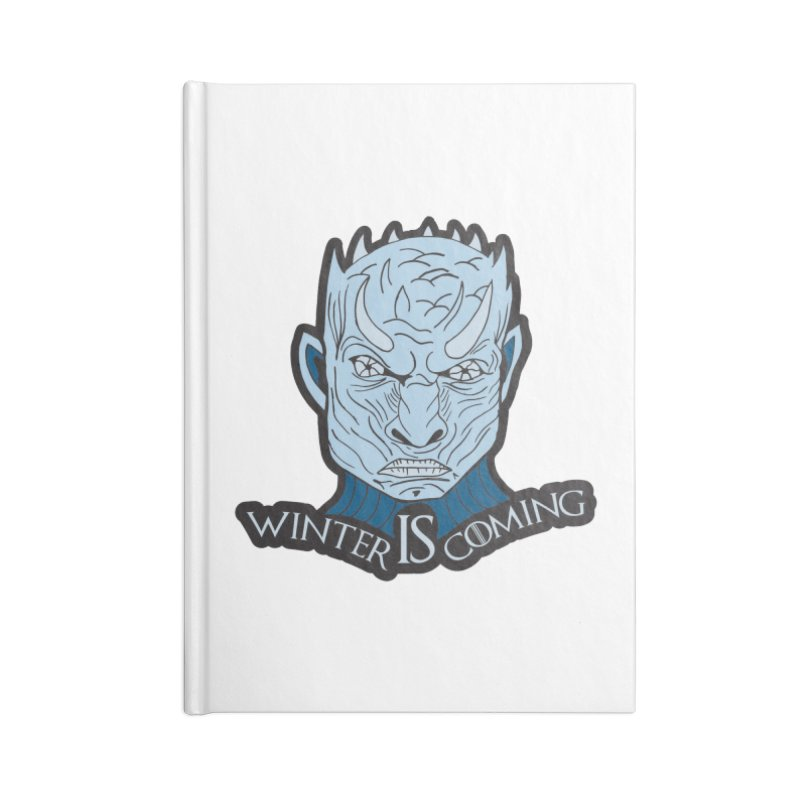 Winter IS Coming Accessories Blank Journal Notebook by Moon Joggers's Artist Shop