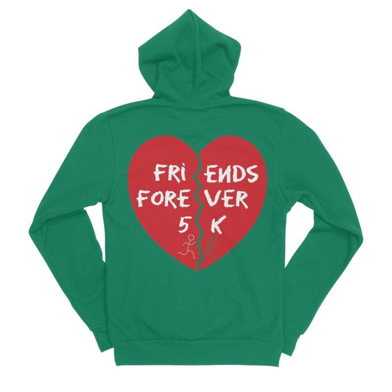 Friends Forever Women's Sponge Fleece Zip-Up Hoody by Moon Joggers's Artist Shop