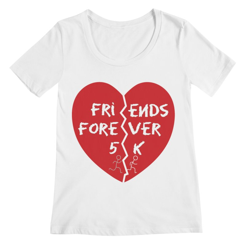 Friends Forever Women's Regular Scoop Neck by Moon Joggers's Artist Shop