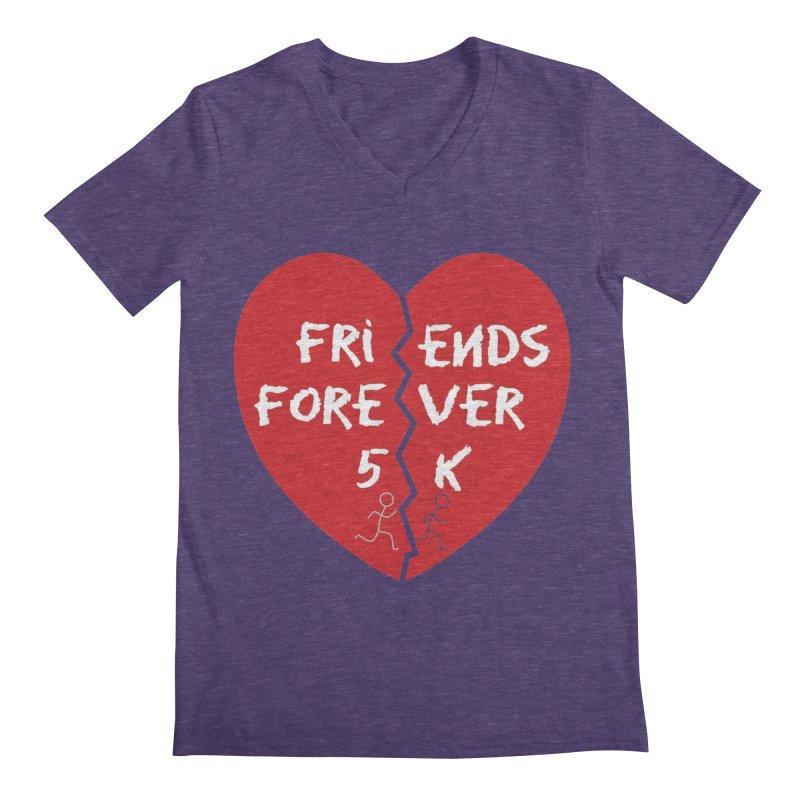 Friends Forever Men's Regular V-Neck by Moon Joggers's Artist Shop
