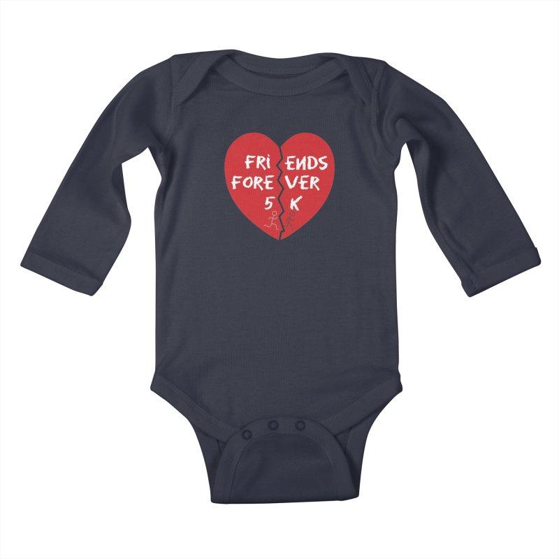 Friends Forever Kids Baby Longsleeve Bodysuit by Moon Joggers's Artist Shop