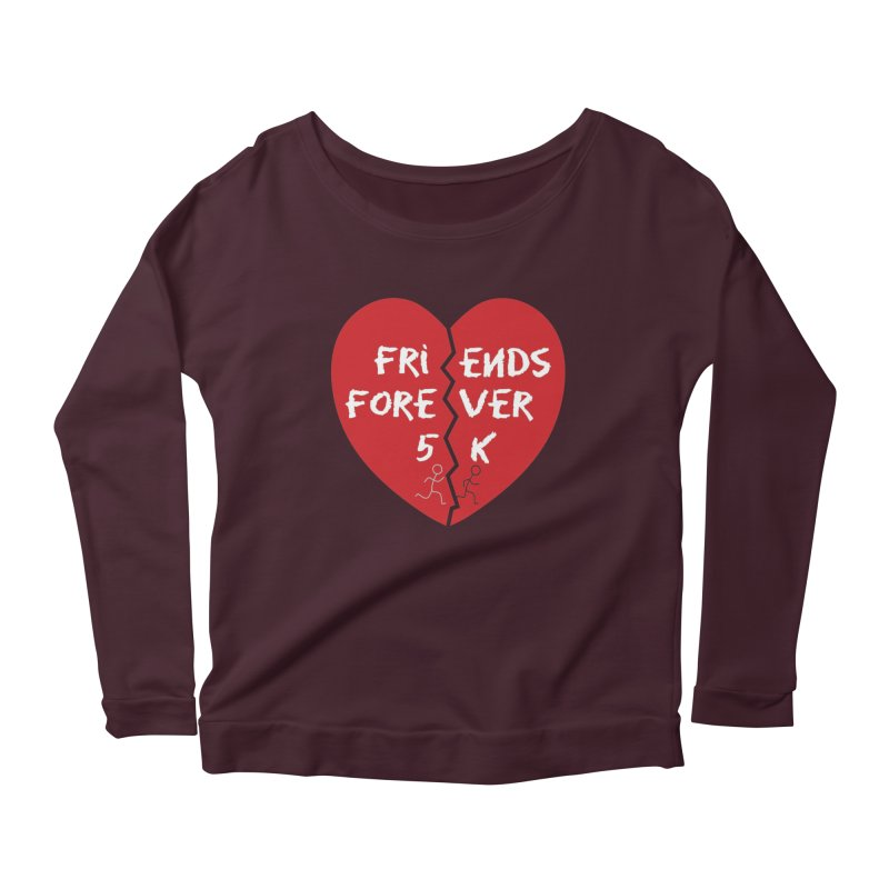 Friends Forever Women's Scoop Neck Longsleeve T-Shirt by Moon Joggers's Artist Shop