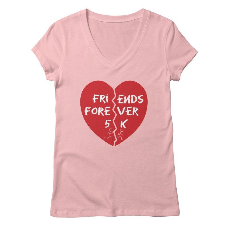 Friends Forever Women's Regular V-Neck by Moon Joggers's Artist Shop