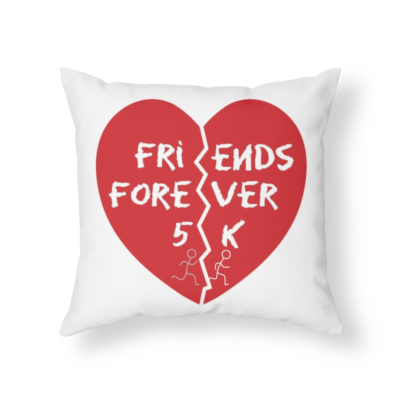 Friends Forever Home Throw Pillow by moonjoggers's Artist Shop