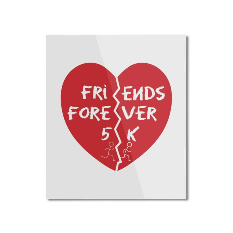 Friends Forever Home Mounted Aluminum Print by Moon Joggers's Artist Shop