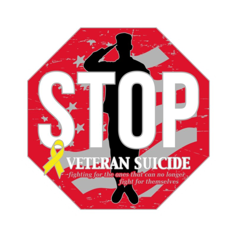 Stop Veteran Suicide Men's V-Neck by Moon Joggers's Artist Shop