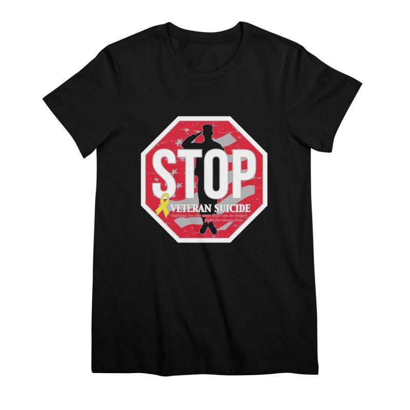 Stop Veteran Suicide Women's Premium T-Shirt by Moon Joggers's Artist Shop