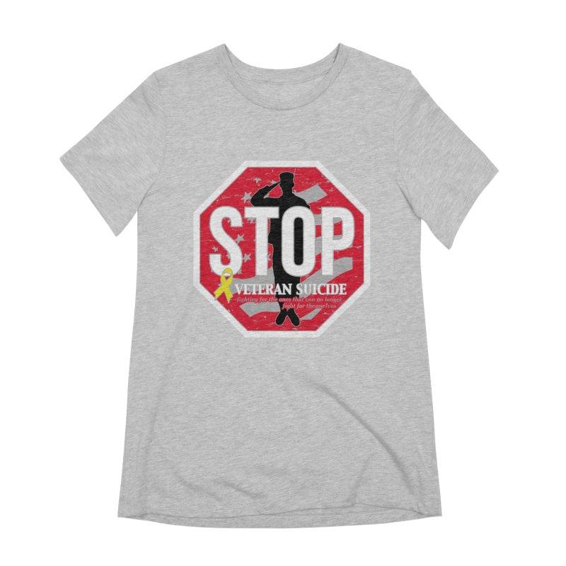 Stop Veteran Suicide Women's Extra Soft T-Shirt by Moon Joggers's Artist Shop
