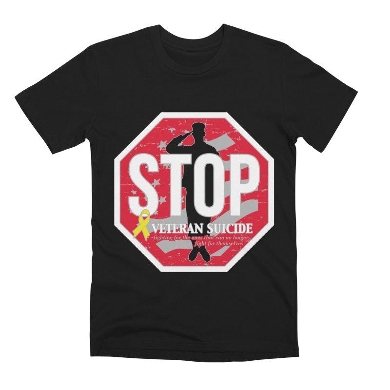 Stop Veteran Suicide Men's Premium T-Shirt by Moon Joggers's Artist Shop