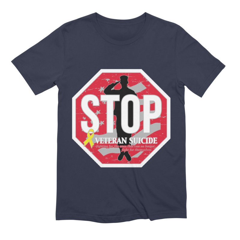 Stop Veteran Suicide Men's Extra Soft T-Shirt by Moon Joggers's Artist Shop