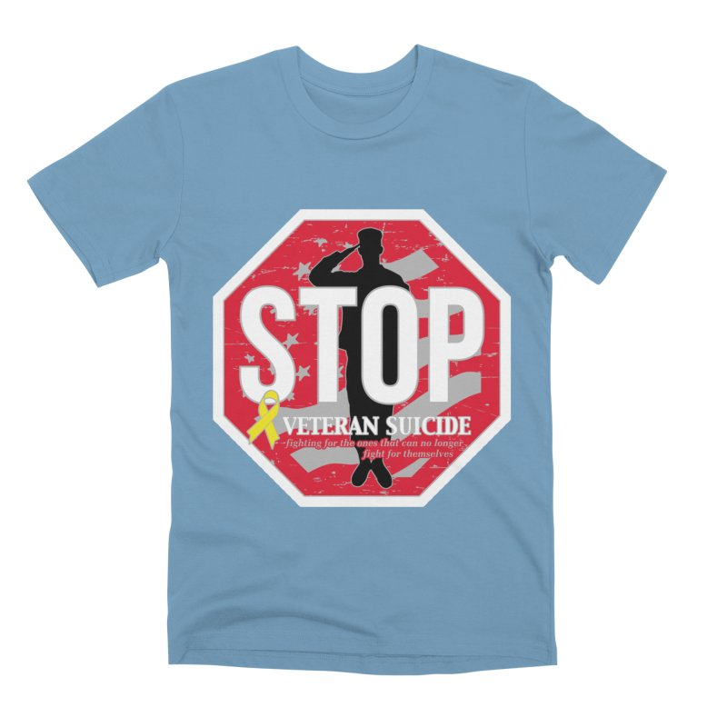 Stop Veteran Suicide Men's Premium T-Shirt by Moon Joggers's Artist Shop