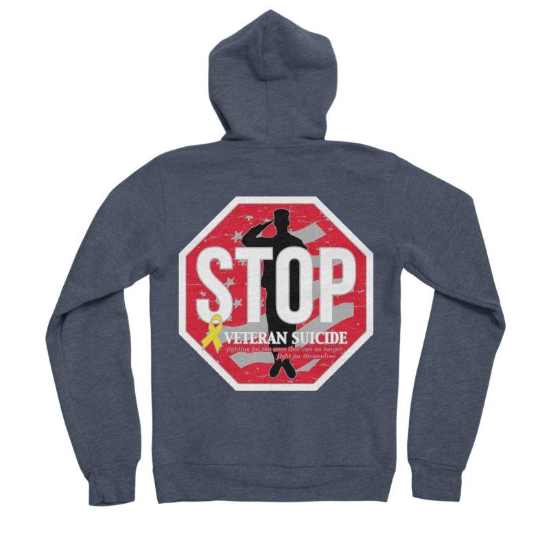 Stop Veteran Suicide Women's Sponge Fleece Zip-Up Hoody by Moon Joggers's Artist Shop
