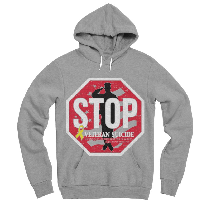 Stop Veteran Suicide Men's Sponge Fleece Pullover Hoody by Moon Joggers's Artist Shop