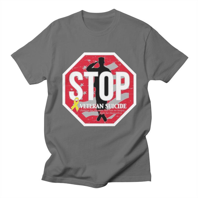 Stop Veteran Suicide Men's T-Shirt by Moon Joggers's Artist Shop
