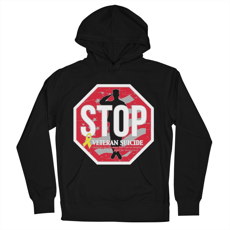 Stop Veteran Suicide Women's French Terry Pullover Hoody by Moon Joggers's Artist Shop