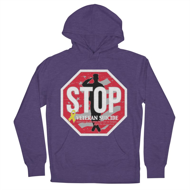 Stop Veteran Suicide Men's French Terry Pullover Hoody by Moon Joggers's Artist Shop