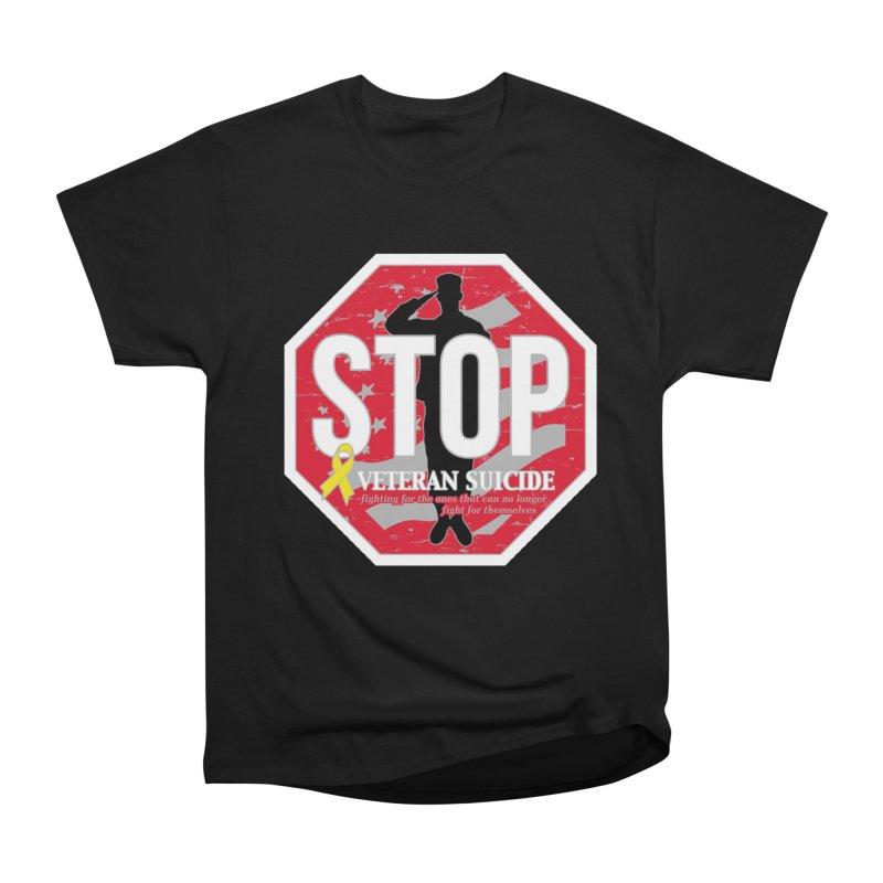 Stop Veteran Suicide Men's Heavyweight T-Shirt by Moon Joggers's Artist Shop