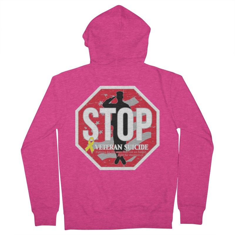 Stop Veteran Suicide Women's French Terry Zip-Up Hoody by Moon Joggers's Artist Shop