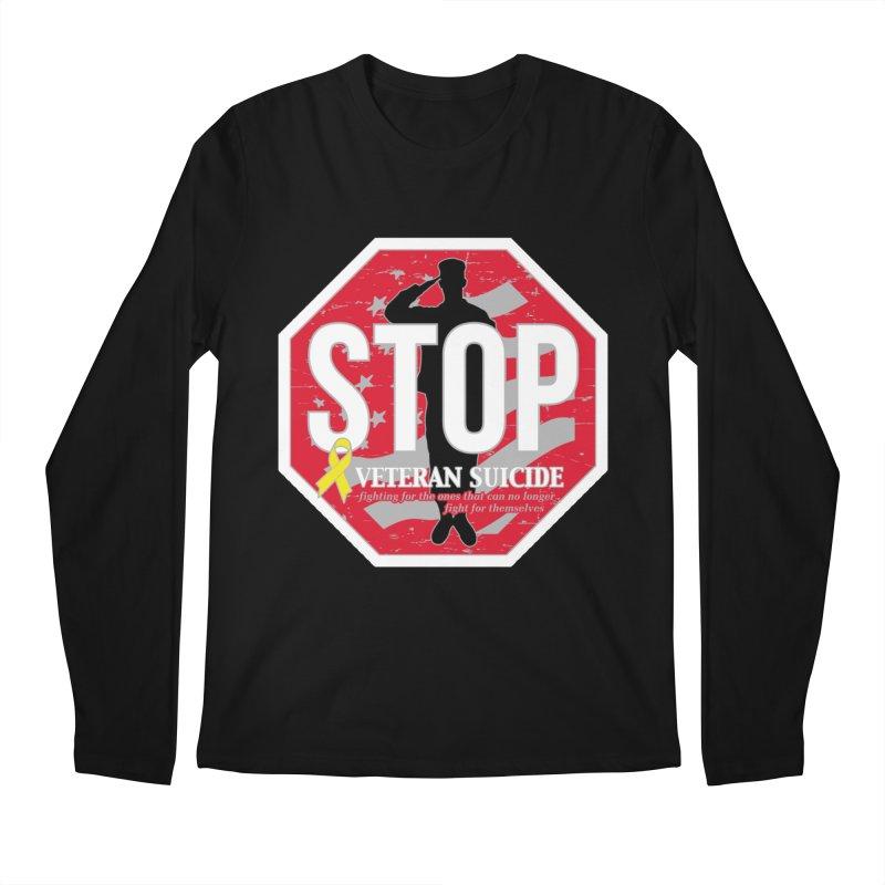 Stop Veteran Suicide Men's Regular Longsleeve T-Shirt by Moon Joggers's Artist Shop