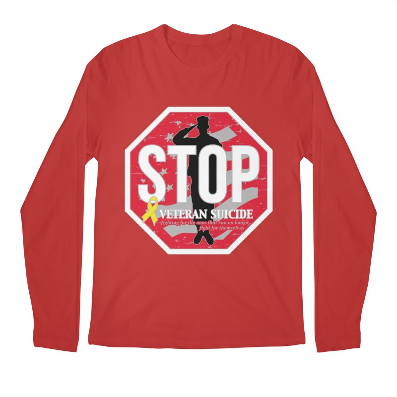 Stop Veteran Suicide Men's Regular Longsleeve T-Shirt by Moon Joggers's Artist Shop
