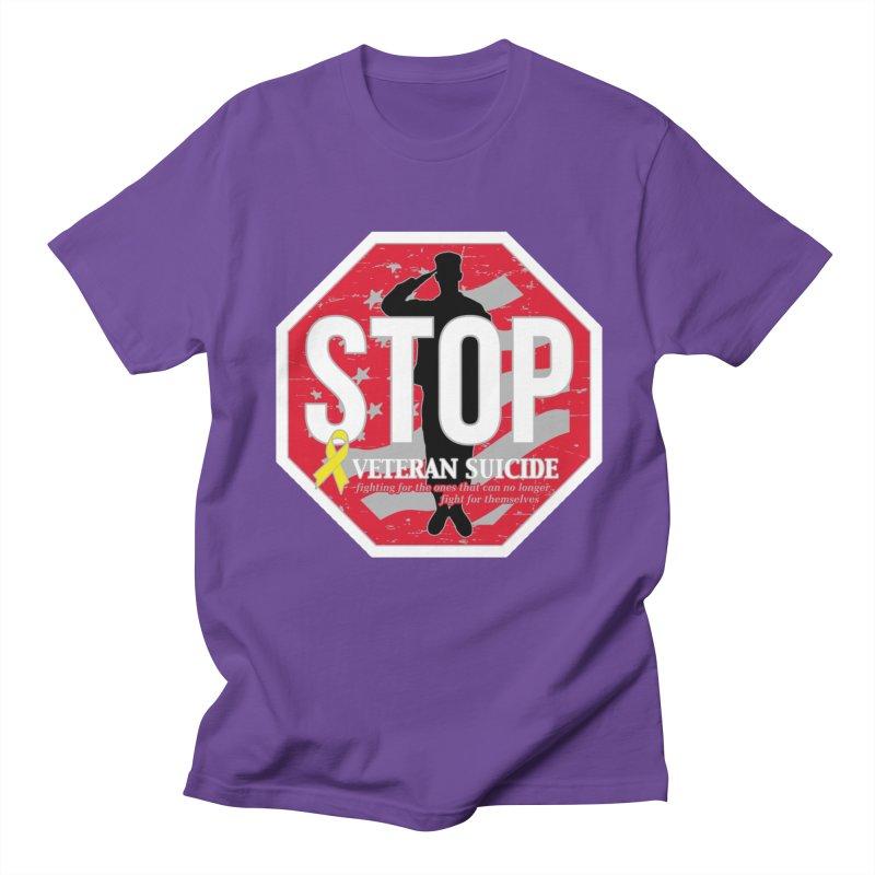 Stop Veteran Suicide Men's Regular T-Shirt by Moon Joggers's Artist Shop