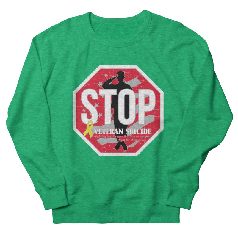 Stop Veteran Suicide Men's French Terry Sweatshirt by Moon Joggers's Artist Shop