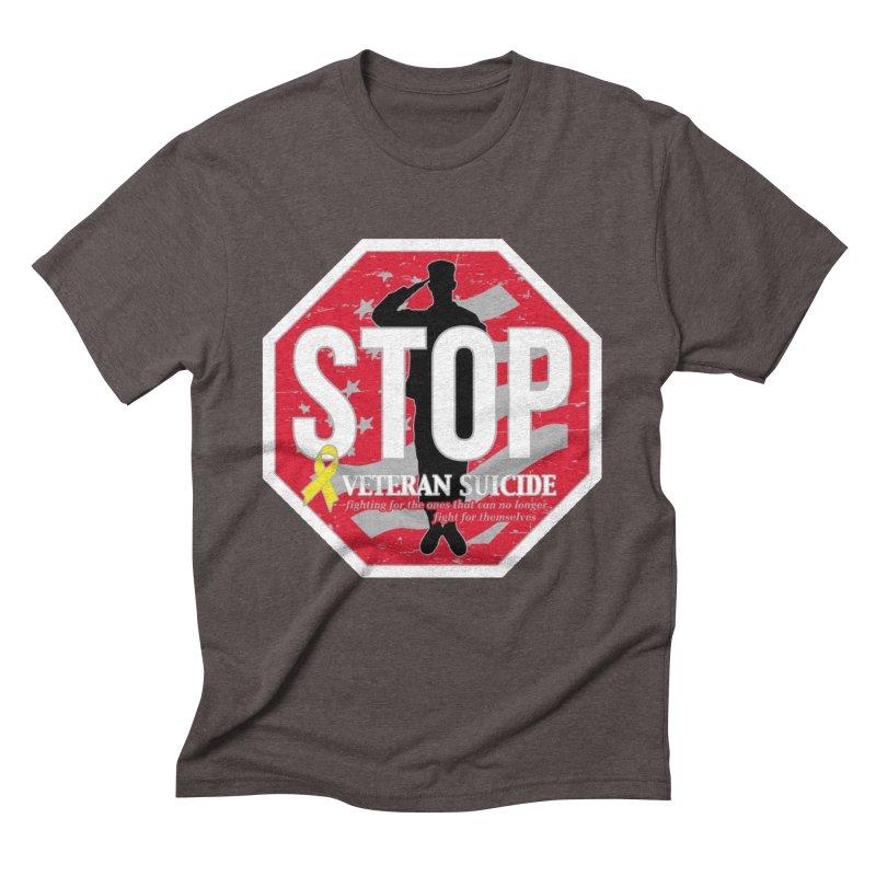 Stop Veteran Suicide Men's Triblend T-Shirt by Moon Joggers's Artist Shop