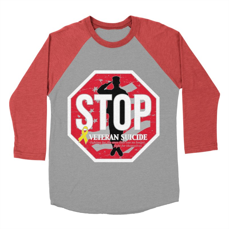 Stop Veteran Suicide Men's Baseball Triblend Longsleeve T-Shirt by Moon Joggers's Artist Shop