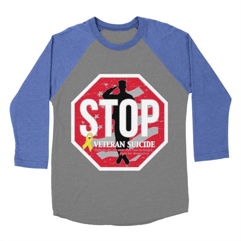 Stop Veteran Suicide Men's Baseball Triblend Longsleeve T-Shirt by Moon Joggers's Artist Shop
