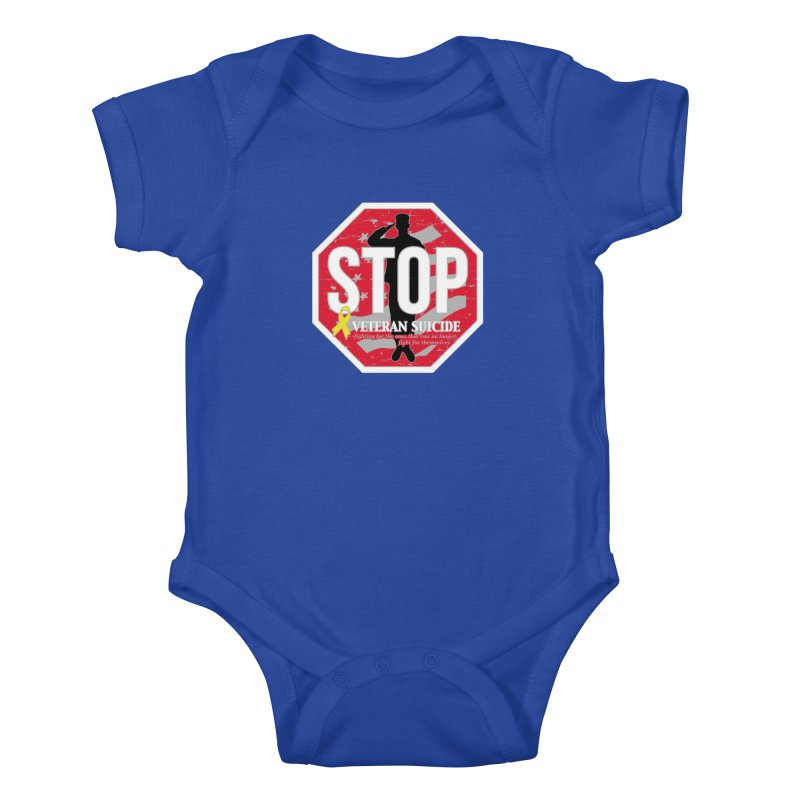 Stop Veteran Suicide Kids Baby Bodysuit by Moon Joggers's Artist Shop