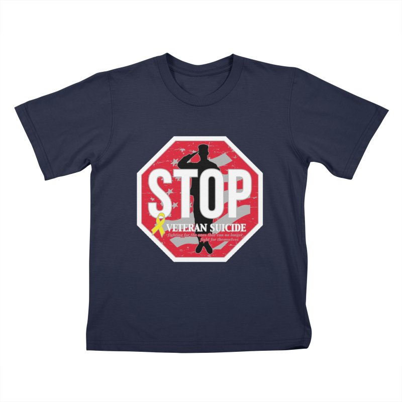 Stop Veteran Suicide Kids T-Shirt by Moon Joggers's Artist Shop