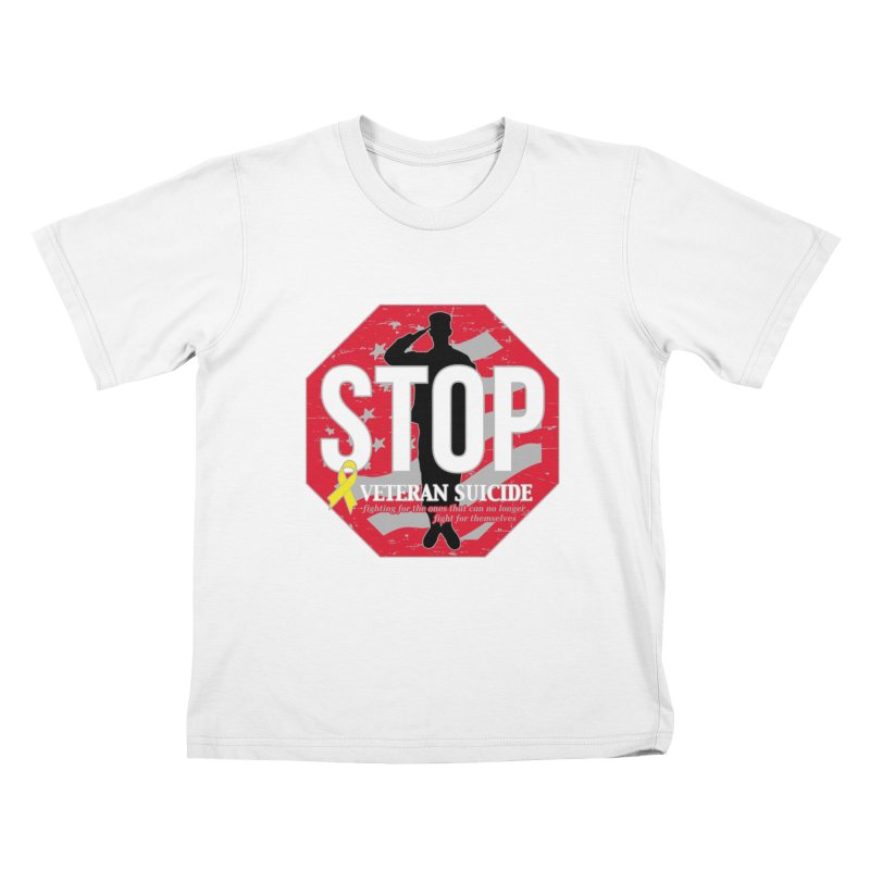Stop Veteran Suicide Kids T-Shirt by Moon Joggers's Artist Shop