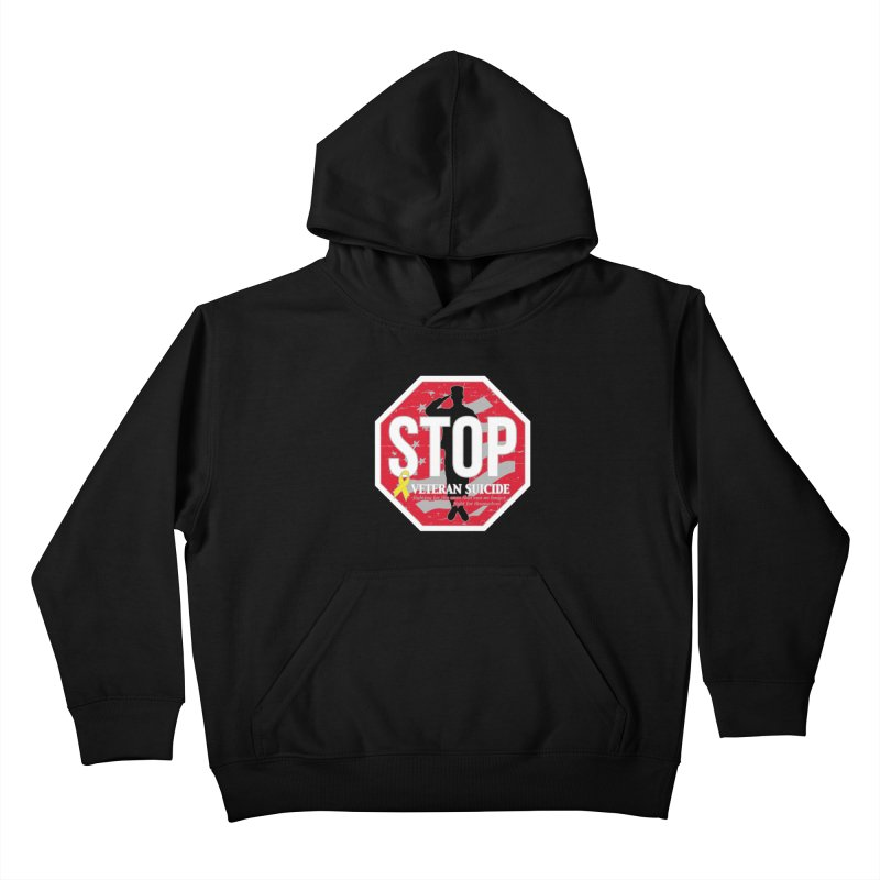 Stop Veteran Suicide Kids Pullover Hoody by Moon Joggers's Artist Shop
