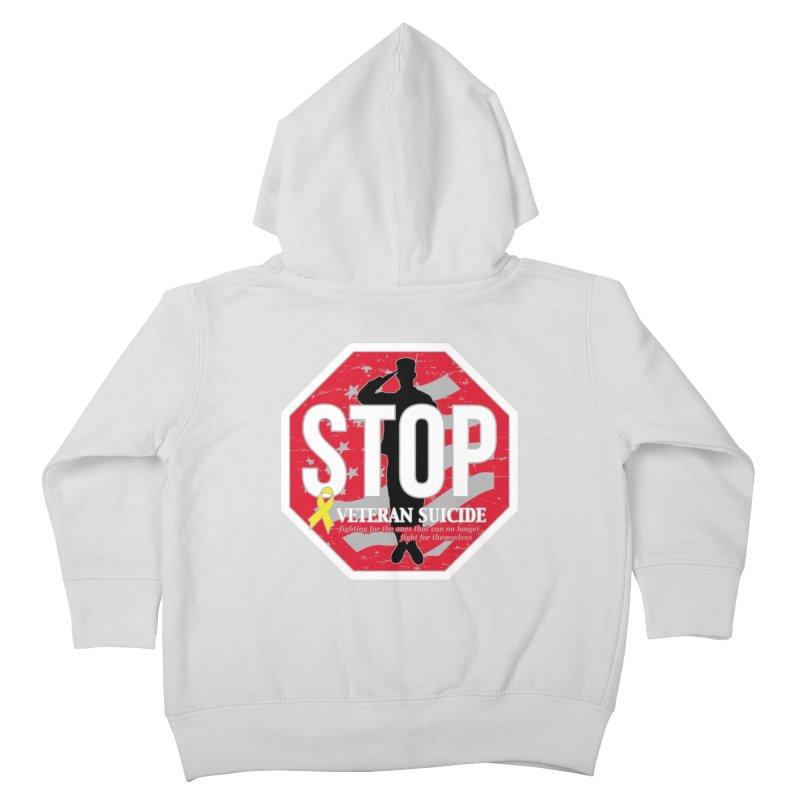 Stop Veteran Suicide Kids Toddler Zip-Up Hoody by Moon Joggers's Artist Shop
