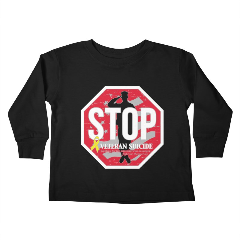 Stop Veteran Suicide Kids Toddler Longsleeve T-Shirt by Moon Joggers's Artist Shop