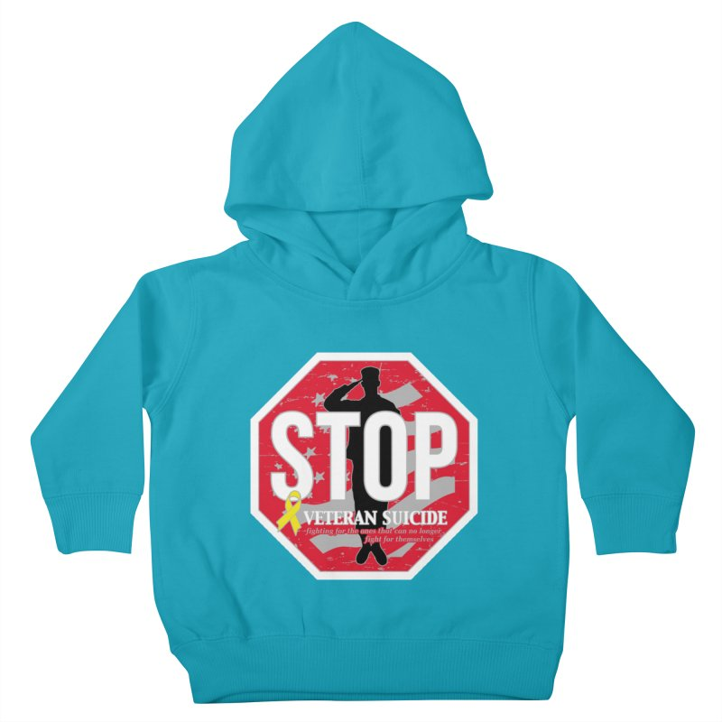 Stop Veteran Suicide Kids Toddler Pullover Hoody by Moon Joggers's Artist Shop