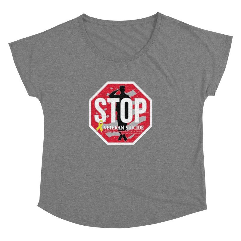Stop Veteran Suicide Women's Dolman Scoop Neck by Moon Joggers's Artist Shop
