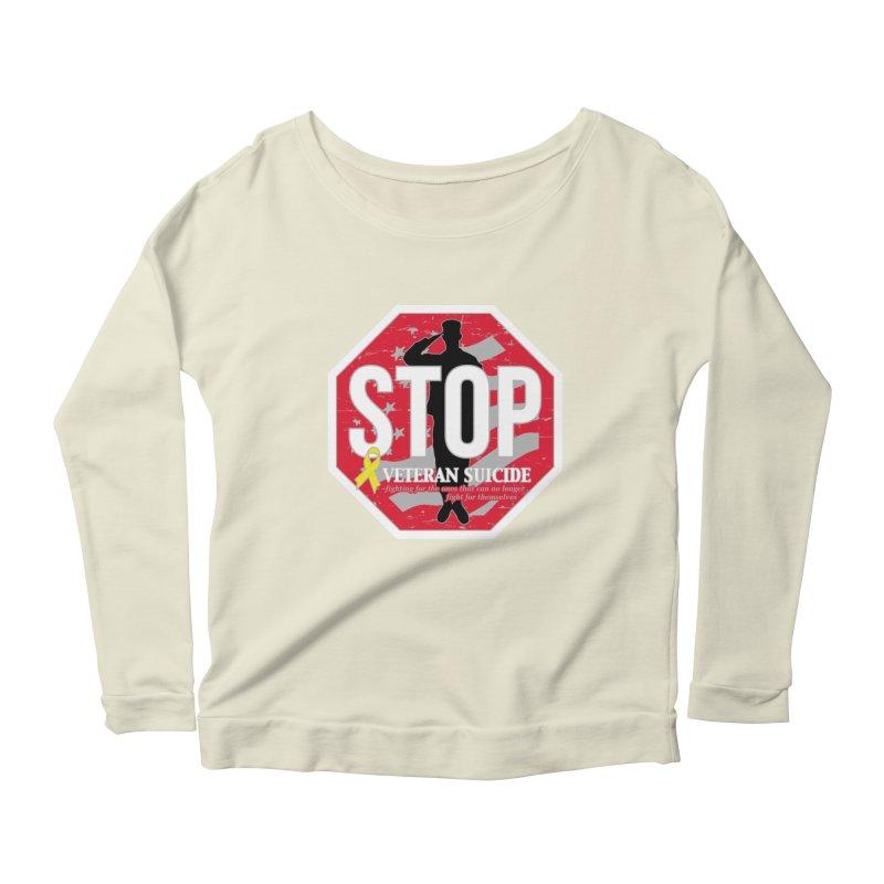 Stop Veteran Suicide Women's Scoop Neck Longsleeve T-Shirt by Moon Joggers's Artist Shop